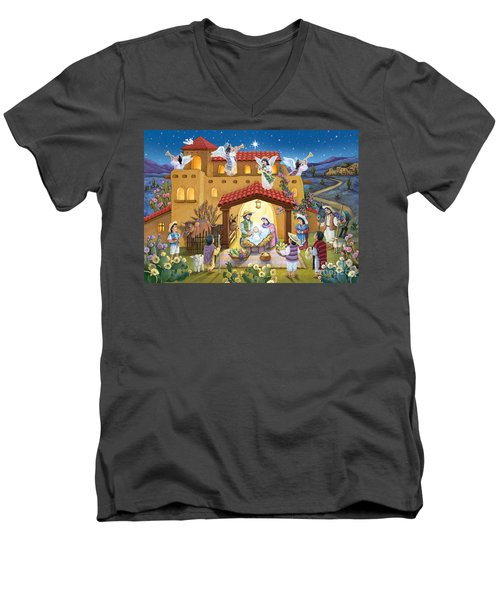 Spanish Nativity Men's V-Neck T-Shirt
