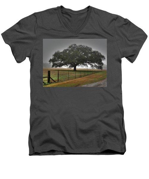 Men's V-Neck T-Shirt featuring the photograph Spanish Oak I by Lanita Williams