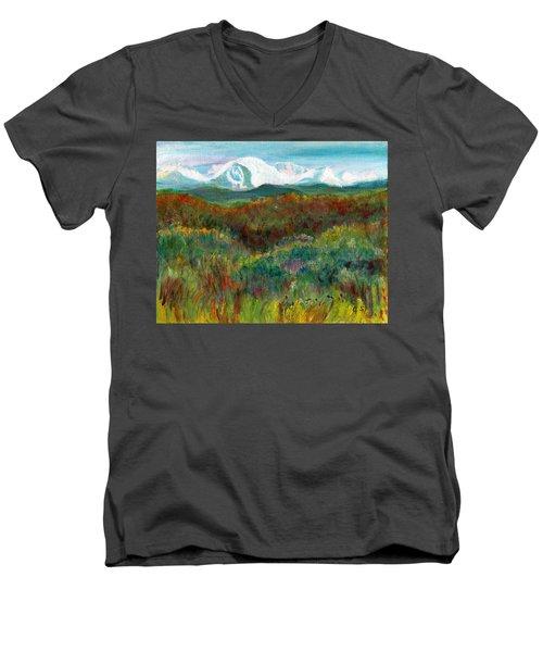 Spanish Peaks Evening Men's V-Neck T-Shirt by C Sitton