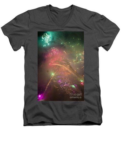 Sparked Sky Men's V-Neck T-Shirt
