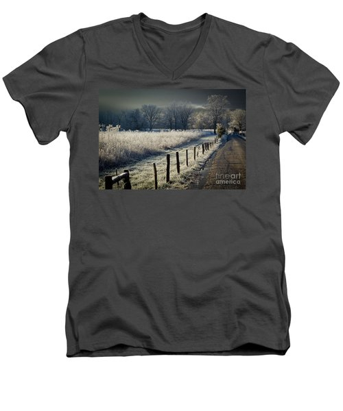 Sparks Lane December 2011 Men's V-Neck T-Shirt by Douglas Stucky