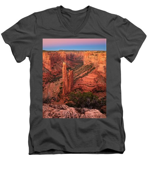 Spider Rock Sunset Men's V-Neck T-Shirt