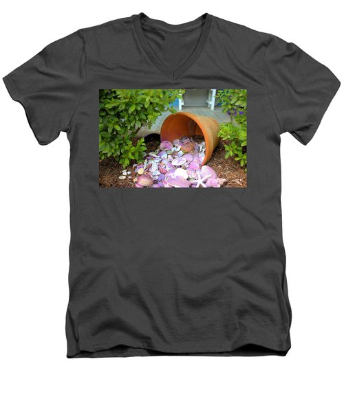 Men's V-Neck T-Shirt featuring the photograph Spilled Shels by Gordon Elwell
