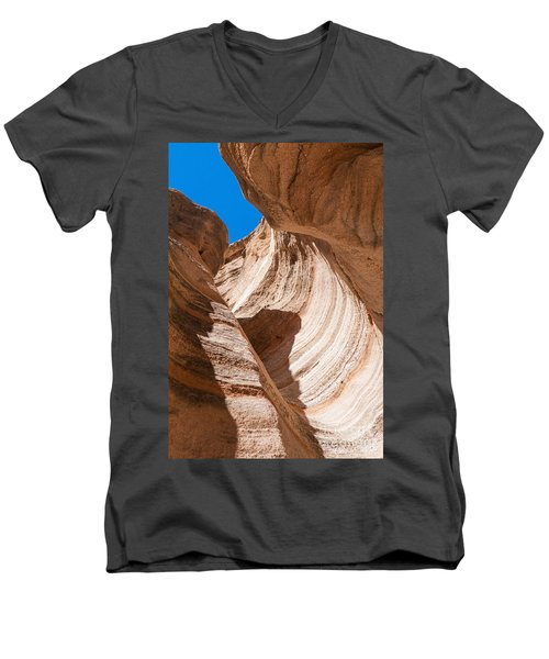 Spiral At Tent Rocks Men's V-Neck T-Shirt