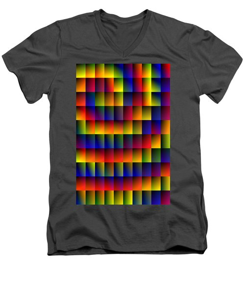 Spiral Boxes Men's V-Neck T-Shirt by Bartz Johnson
