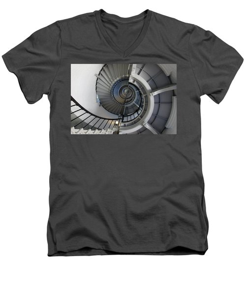 Men's V-Neck T-Shirt featuring the photograph Spiral by Laurie Perry