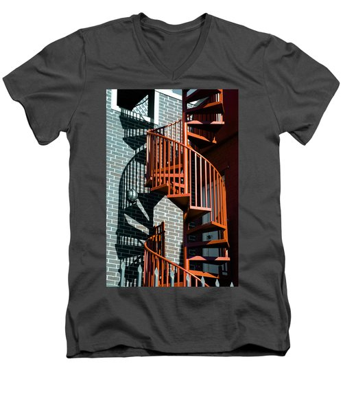 Spiral Stairs - Color Men's V-Neck T-Shirt