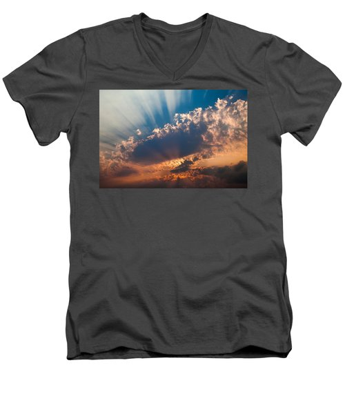 Men's V-Neck T-Shirt featuring the photograph Spirit In The Sky by Jack Bell