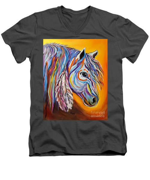 'spirit' War Horse Men's V-Neck T-Shirt