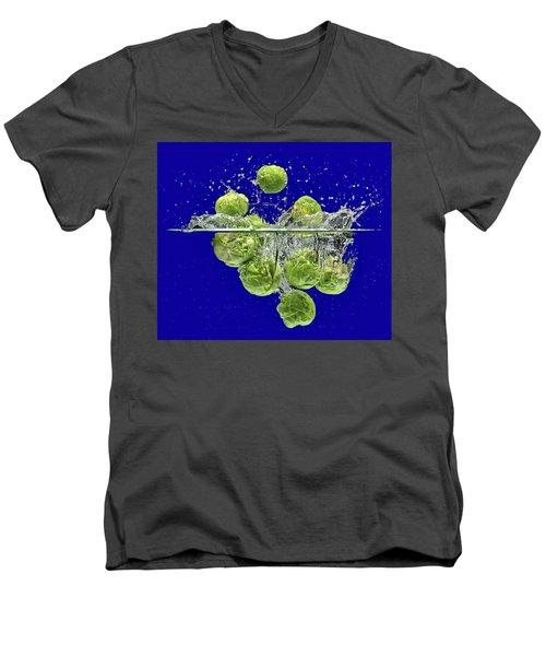 Splash-brussels Sprouts Men's V-Neck T-Shirt