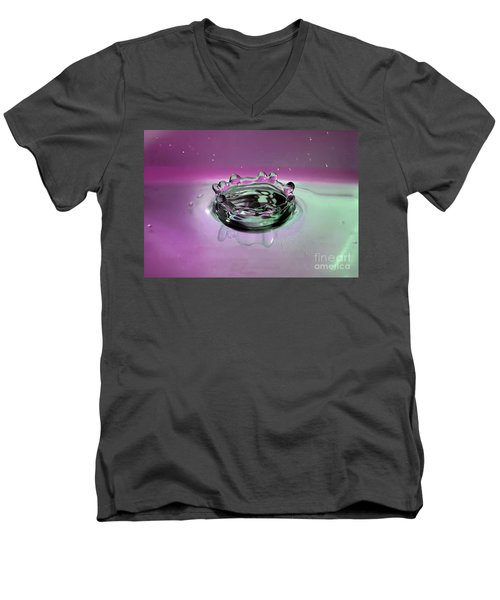 Splash Of Purple Men's V-Neck T-Shirt