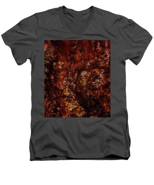 Splattered  Men's V-Neck T-Shirt