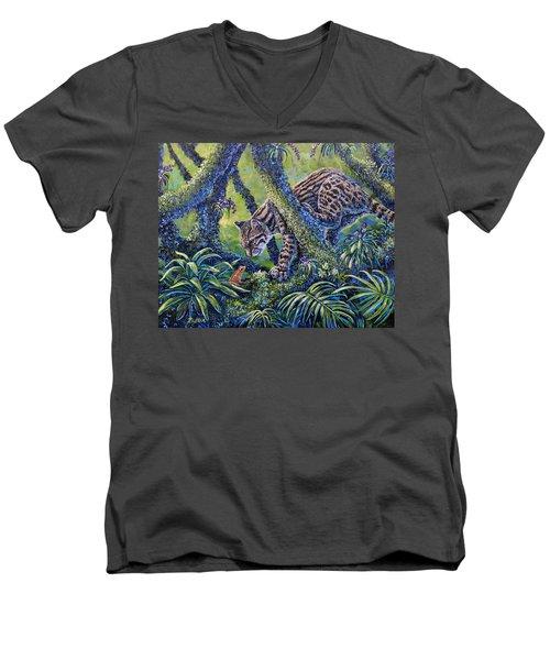 Spotted Men's V-Neck T-Shirt by Gail Butler