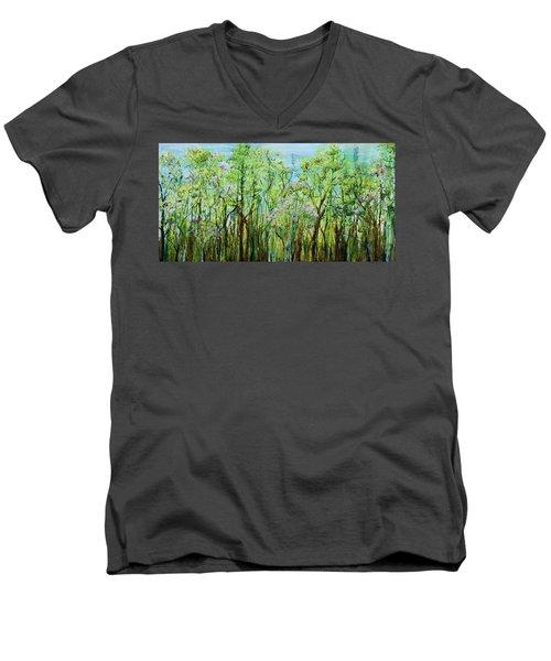 Spring Arpeggio Men's V-Neck T-Shirt