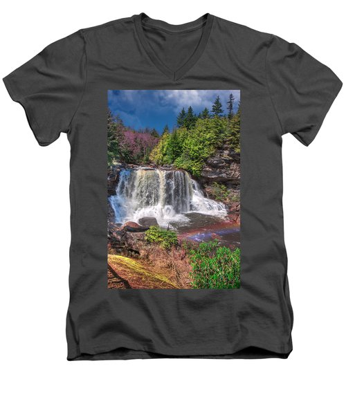 Spring At Blackwater Falls Men's V-Neck T-Shirt