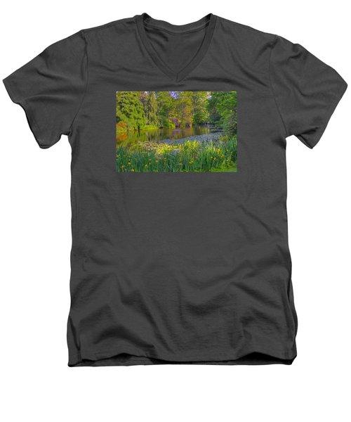 Spring Morning At Mount Auburn Cemetery Men's V-Neck T-Shirt