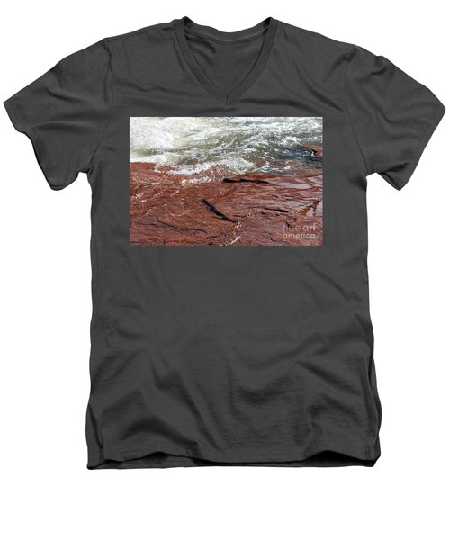 Spring At Sedona In Spring Men's V-Neck T-Shirt by Debbie Hart