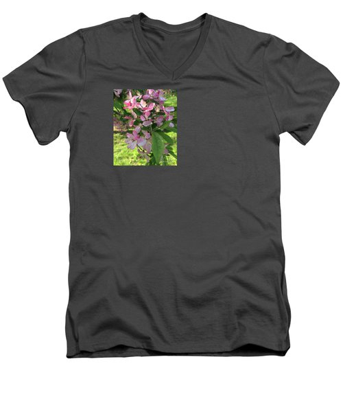 Spring Blossoms - Flower Photography Men's V-Neck T-Shirt by Miriam Danar
