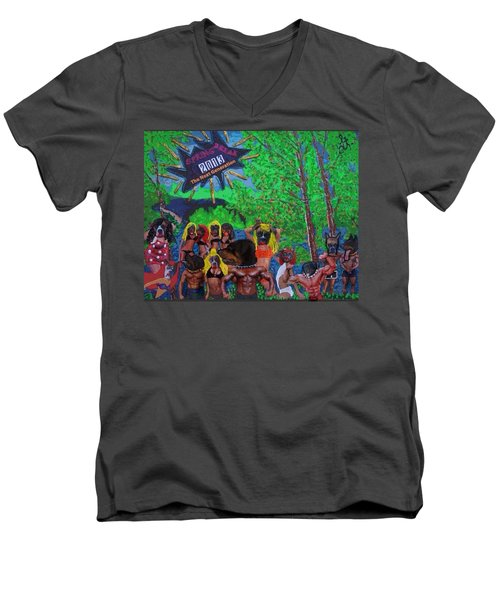 Men's V-Neck T-Shirt featuring the painting Spring Break 2013 by Lisa Piper