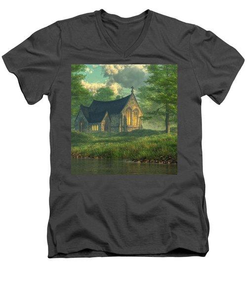Spring Chapel Men's V-Neck T-Shirt