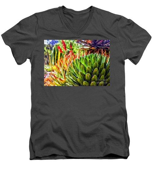 Spring Desert In Bloom Men's V-Neck T-Shirt