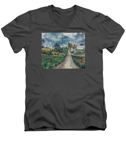 Spring Farm Men's V-Neck T-Shirt by Joy Nichols