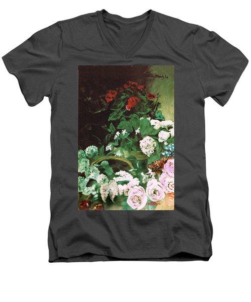 Spring Flowers Study Of Monet Men's V-Neck T-Shirt