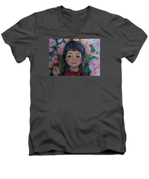 Spring Girls. Part One Men's V-Neck T-Shirt by Anna  Duyunova