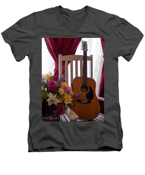 Spring Guitar Men's V-Neck T-Shirt