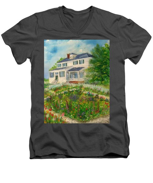 Spring In Colonial Williamsburg- Cole House Men's V-Neck T-Shirt