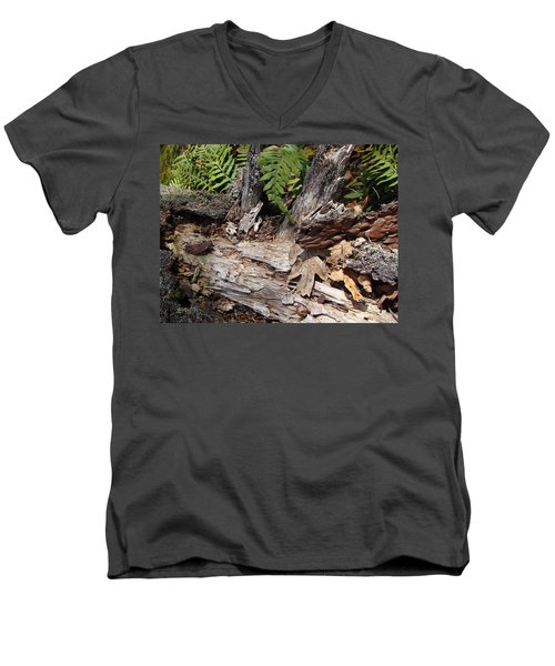Men's V-Neck T-Shirt featuring the photograph Spring In Knockan Hill by Cheryl Hoyle