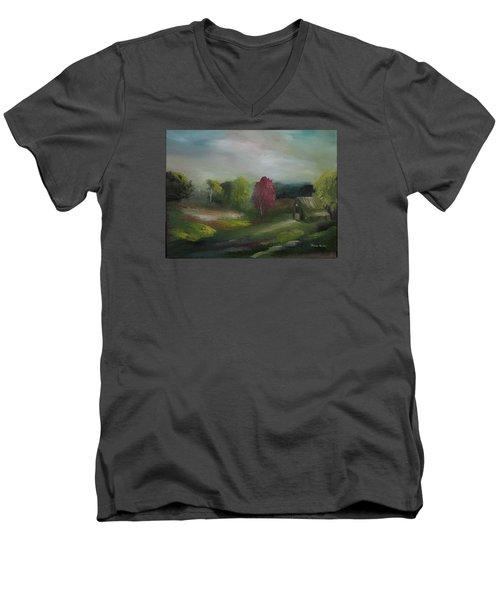 Spring Memory Men's V-Neck T-Shirt
