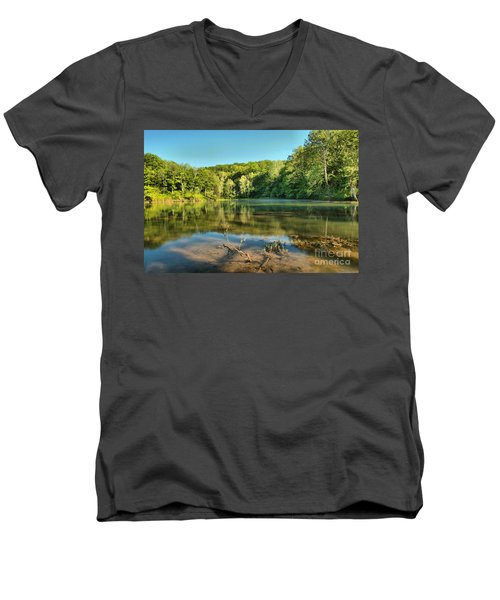 Spring Mill Lake Men's V-Neck T-Shirt