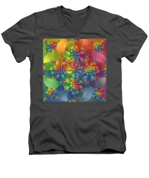 Spring Promises Fractal Men's V-Neck T-Shirt