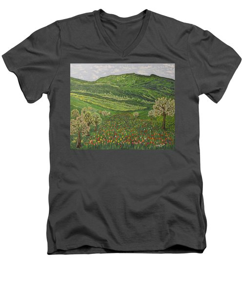 Spring Remembrances Men's V-Neck T-Shirt