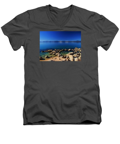 Spring Simplicity Men's V-Neck T-Shirt