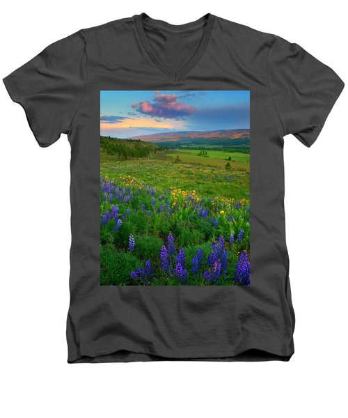 Spring Storm Passing Men's V-Neck T-Shirt