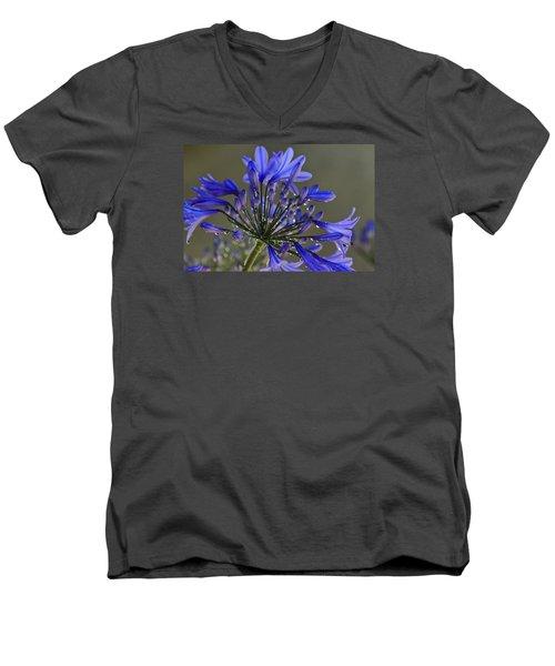 Spring Time Blues Men's V-Neck T-Shirt by Menachem Ganon