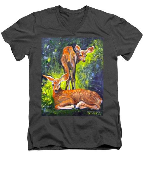 Spring Twins 1 Men's V-Neck T-Shirt