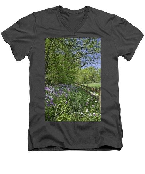 Spring Wildflowers Men's V-Neck T-Shirt