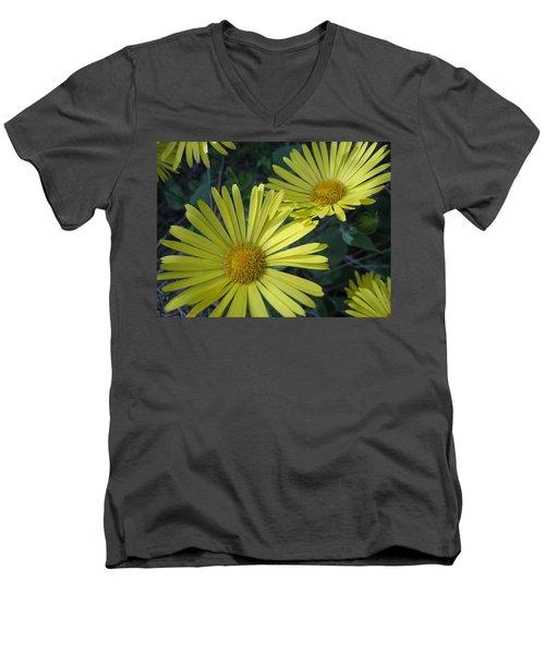 Spring Yellow  Men's V-Neck T-Shirt by Cheryl Hoyle