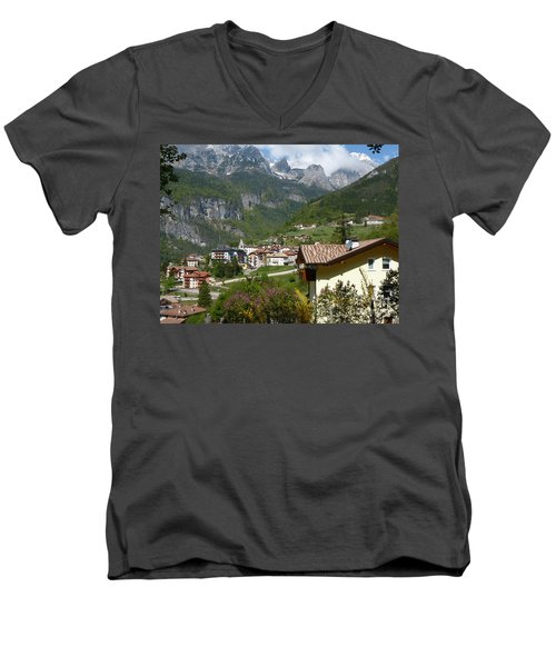 Springtime In Molveno - Italy Men's V-Neck T-Shirt