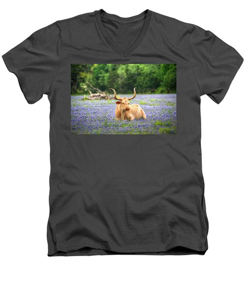 Springtime In Texas Men's V-Neck T-Shirt
