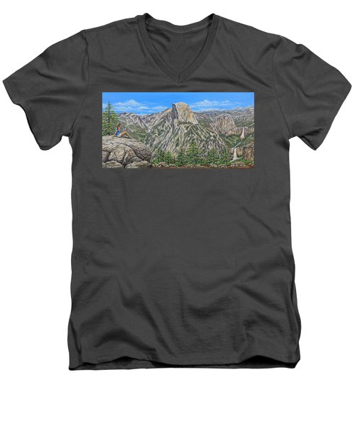 Springtime In Yosemite Valley Men's V-Neck T-Shirt by Jane Girardot