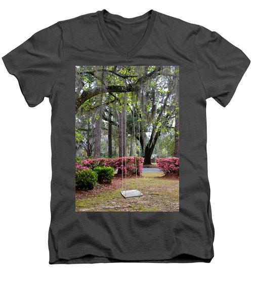 Springtime Swing Time Men's V-Neck T-Shirt