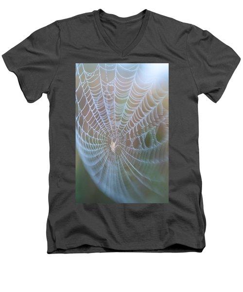 Spyder's Web Men's V-Neck T-Shirt