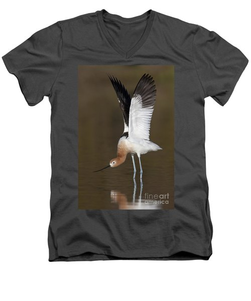 Men's V-Neck T-Shirt featuring the photograph Sstretchhh by Bryan Keil