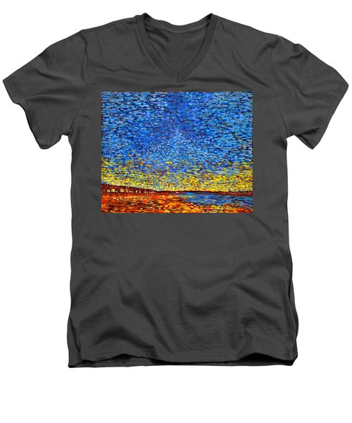 St. Andrews Sunset Men's V-Neck T-Shirt