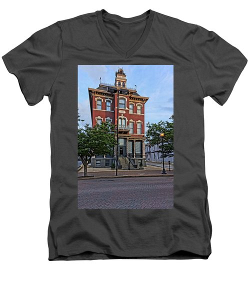 St. Charles Odd Fellows Hall Built In 1878 Dsc00810  Men's V-Neck T-Shirt