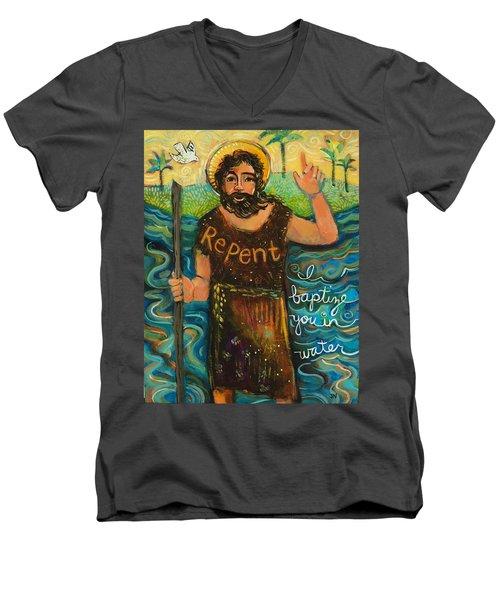 St. John The Baptist Men's V-Neck T-Shirt